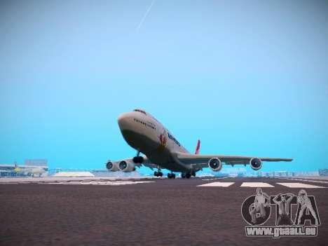 Boeing 747-438 Qantas Boxing Kangaroo pour GTA San Andreas vue de dessous