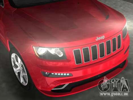 Jeep Grand Cherokee SRT-8 (WK2) 2012 für GTA Vice City rechten Ansicht
