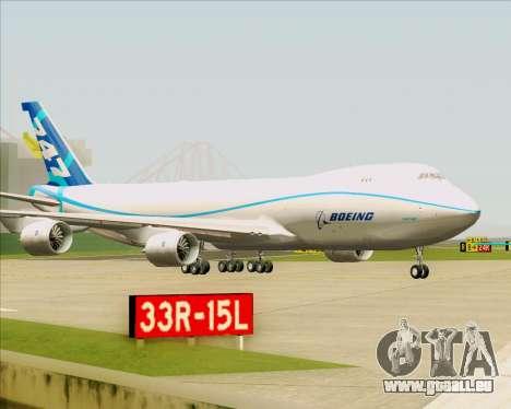 Boeing 747-8 Cargo House Livery für GTA San Andreas obere Ansicht