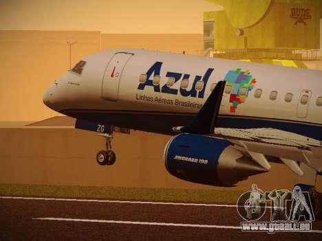 Embraer E190 Azul Brazilian Airlines pour GTA San Andreas