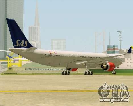Airbus A330-300 Scandinavian Airlines System. pour GTA San Andreas vue de droite