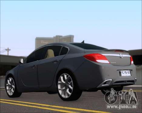 Opel Insignia OPC für GTA San Andreas zurück linke Ansicht