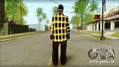 East Side Ballas Skin 3 pour GTA San Andreas deuxième écran