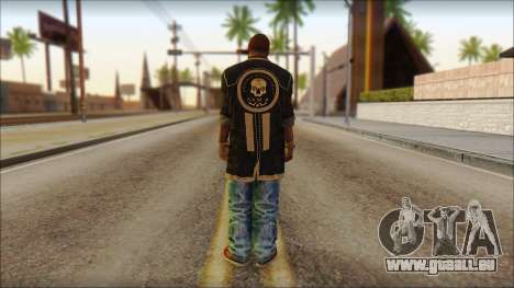 New Grove Street Family Skin v1 pour GTA San Andreas deuxième écran