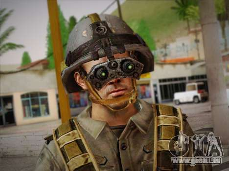 Боец СВР (Tom Clancy Splinter Cell) v2 pour GTA San Andreas troisième écran