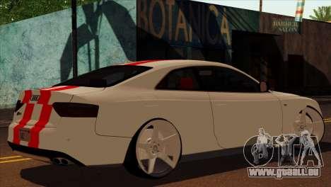 Audi S5 2007 pour GTA San Andreas laissé vue