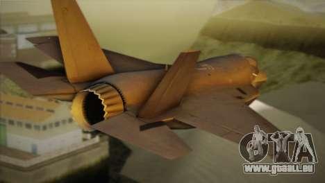 Lockheed Martin F-35A pour GTA San Andreas laissé vue