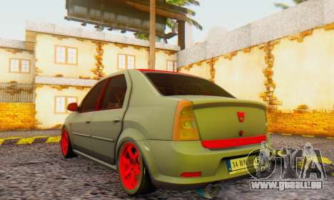 Dacia Logan Turkey Tuning für GTA San Andreas linke Ansicht