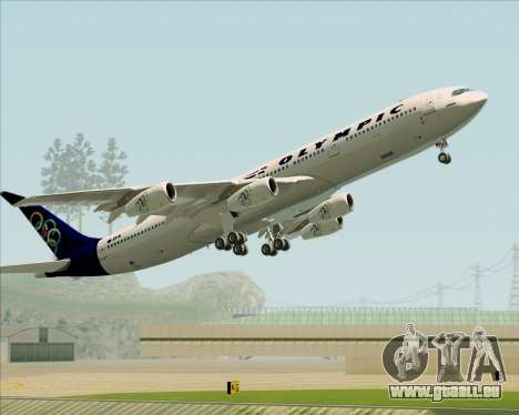Airbus A340-313 Olympic Airlines pour GTA San Andreas roue