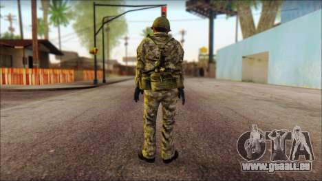 Un Nord-coréen soldat (Rogue Warrior) pour GTA San Andreas deuxième écran