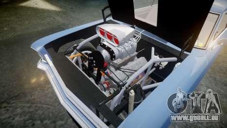 Chevrolet II Nova SS 1966 Custom [EPM] PJ2 pour GTA 4 est une vue de l'intérieur