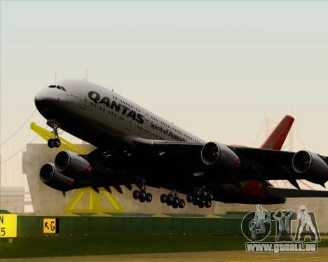 Airbus A380-841 Qantas pour GTA San Andreas vue intérieure