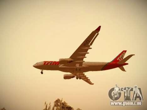 Airbus A330-200 TAM Airlines für GTA San Andreas Rückansicht