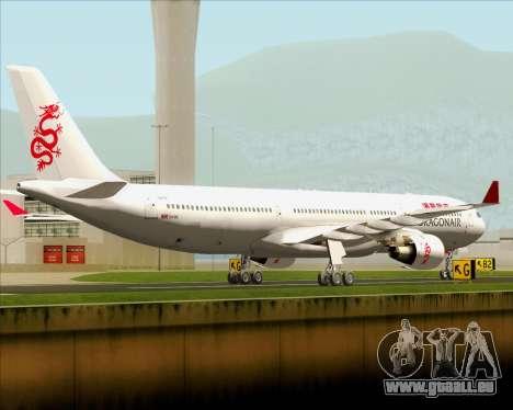 Airbus A330-300 Dragonair pour GTA San Andreas vue de droite