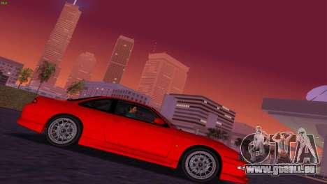 Nissan Silvia S14 RB26DETT Black Revel für GTA Vice City Rückansicht