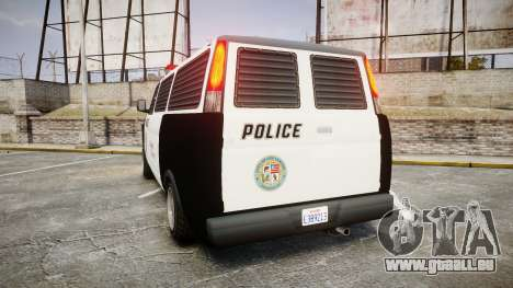 Declasse Burrito Police Transporter ROTORS [ELS] pour GTA 4 Vue arrière de la gauche