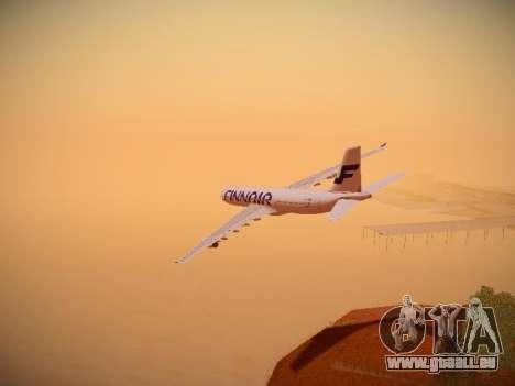 Airbus A340-300 Finnair pour GTA San Andreas salon