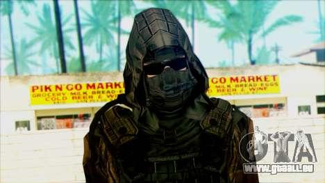 Ein Soldat aus dem team 4 Phantom für GTA San Andreas dritten Screenshot