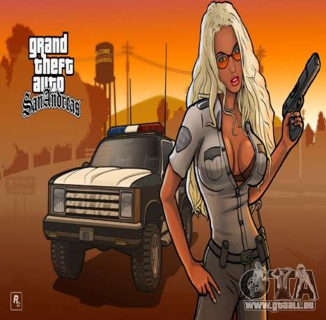 HD écran de chargement et de menus pour GTA San Andreas deuxième écran