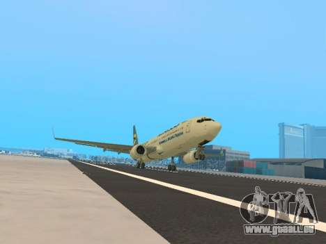 Boeing 737-84R Ukraine International Airlines für GTA San Andreas linke Ansicht