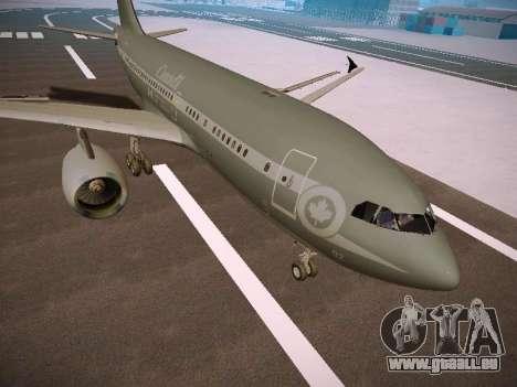Canadian Forces Airbus CC150 Polaris pour GTA San Andreas laissé vue