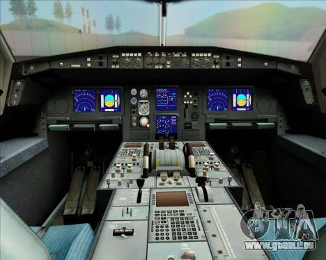 Airbus A340-313 LAN Airlines für GTA San Andreas Unteransicht