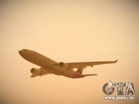 Airbus A330-200 Hawaiian Airlines pour GTA San Andreas salon