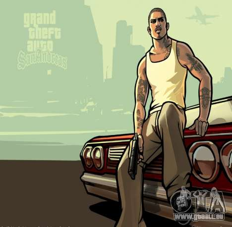 HD écran de chargement et de menus pour GTA San Andreas