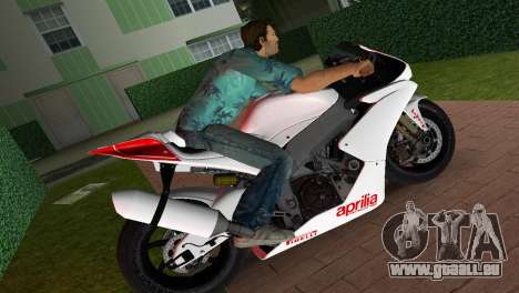 Aprilia RSV4 2009 White Edition I für GTA Vice City linke Ansicht