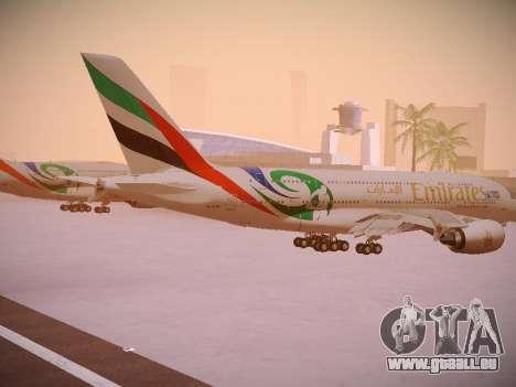 Airbus A380-800 Emirates Rugby World Cup für GTA San Andreas rechten Ansicht