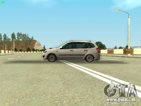 Lada Kalina 2 Wagon pour GTA San Andreas vue arrière
