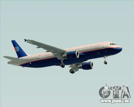 Airbus A320-232 United Airlines (Old Livery) für GTA San Andreas Seitenansicht