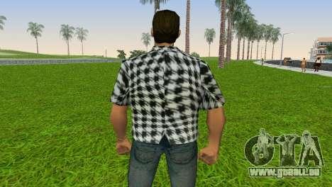 Kockas polo - fekete T-Shirt für GTA Vice City Screenshot her