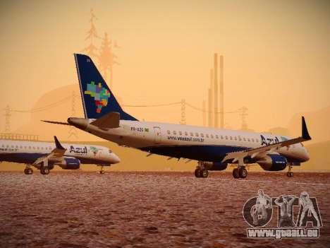 Embraer E190 Azul Brazilian Airlines pour GTA San Andreas vue arrière