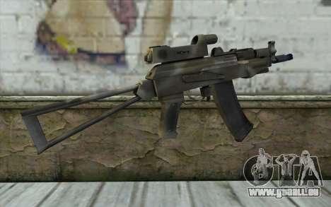 AK74U from Battlefield 2 pour GTA San Andreas deuxième écran