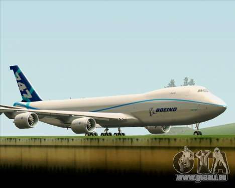 Boeing 747-8 Cargo House Livery für GTA San Andreas Innenansicht