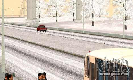 Schnee für GTA Kriminellen Russland beta 2 für GTA San Andreas zweiten Screenshot