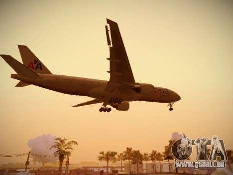 Boeing 777-223ER American Silver Bullet pour GTA San Andreas vue de côté