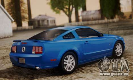 Ford Mustang GT 2005 v2.0 pour GTA San Andreas laissé vue