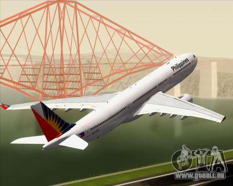 Airbus A330-300 Philippine Airlines pour GTA San Andreas roue