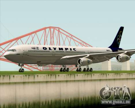 Airbus A340-313 Olympic Airlines für GTA San Andreas linke Ansicht