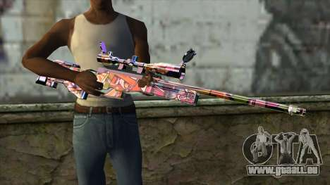 Graffiti Sniper Rifle für GTA San Andreas dritten Screenshot