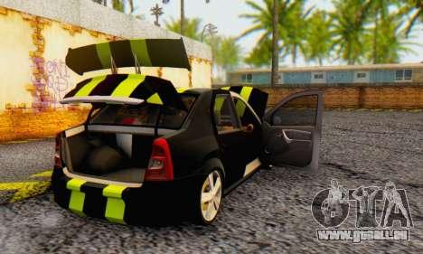 Dacia Logan Black Style für GTA San Andreas Rückansicht