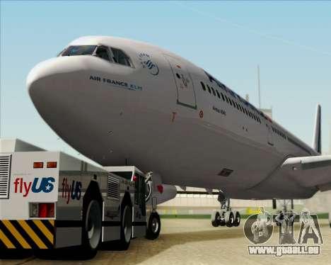 Airbus A340-313 Air France (New Livery) pour GTA San Andreas vue de côté