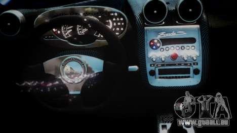 Pagani Zonda S (C12S) Roadster 2011 für GTA 4 rechte Ansicht