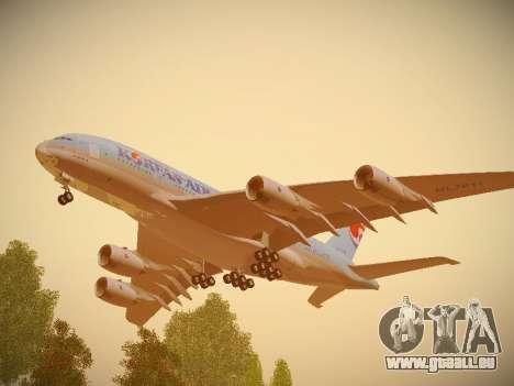 Airbus A380-800 Korean Air pour GTA San Andreas vue intérieure