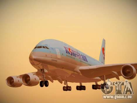 Airbus A380-800 Korean Air pour GTA San Andreas
