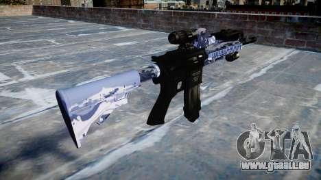 Fusil automatique Colt M4A1 tigre bleu pour GTA 4 secondes d'écran