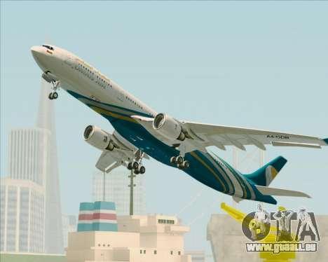 Airbus A330-300 Oman Air für GTA San Andreas obere Ansicht