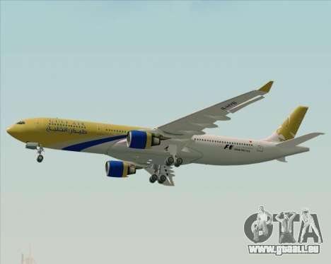 Airbus A330-300 Gulf Air pour GTA San Andreas vue de dessus
